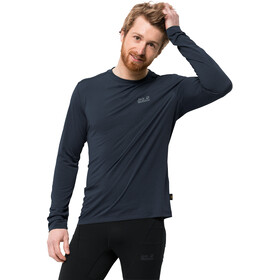 Jack Wolfskin Crosstrail longsleeve Heren, night blue